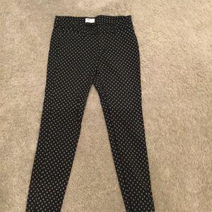 Black Printed Dress Pants